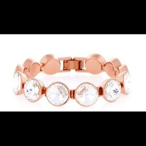 Henri Bendel On-Point Rose Gold Crystal Bracelet